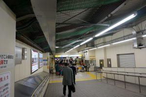 高砂駅 金町線から本線への乗り換え通路